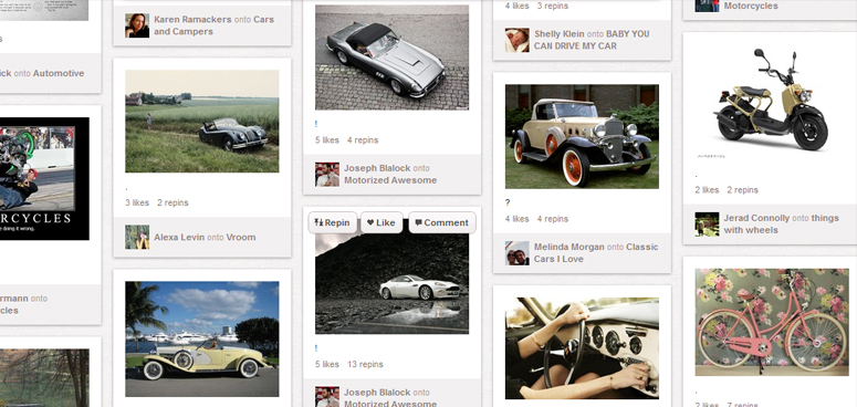 Sell cars through Pinterest