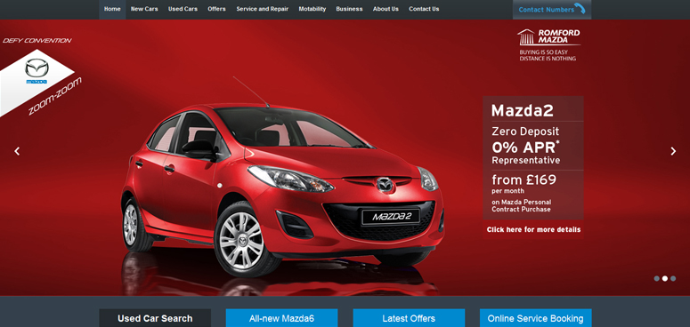 Mazda's dealer websites re-launch with added features