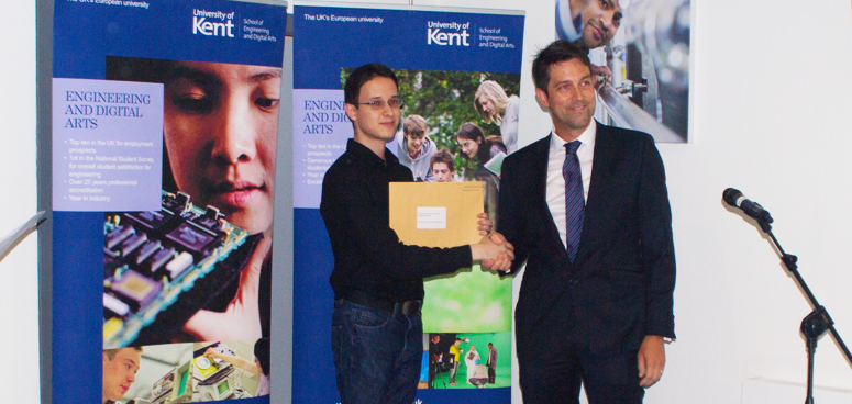 GForces at the University of Kent EDA reception and prize giving