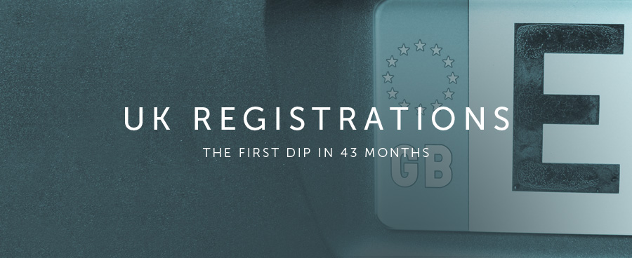 UK registrations: First dip in 43 months