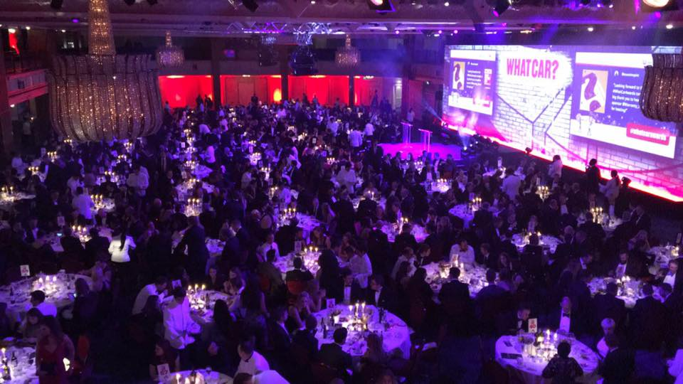 The award tables from above at this year's 2017 Car of the Year awards
