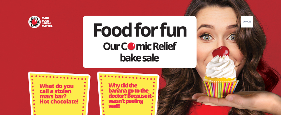 Funny Food. Our Comic Relief Bake Sale.
