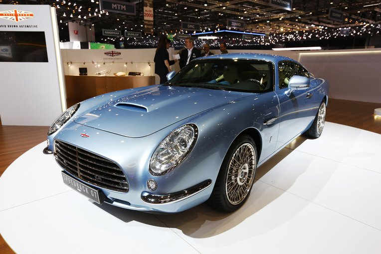 Bavid Brown Automotive Speedback GT - in blue, at Geneva Motor Show.