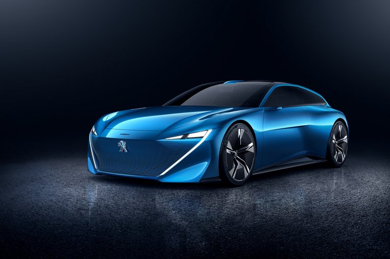 Peugeot Instinct Concept in Blue