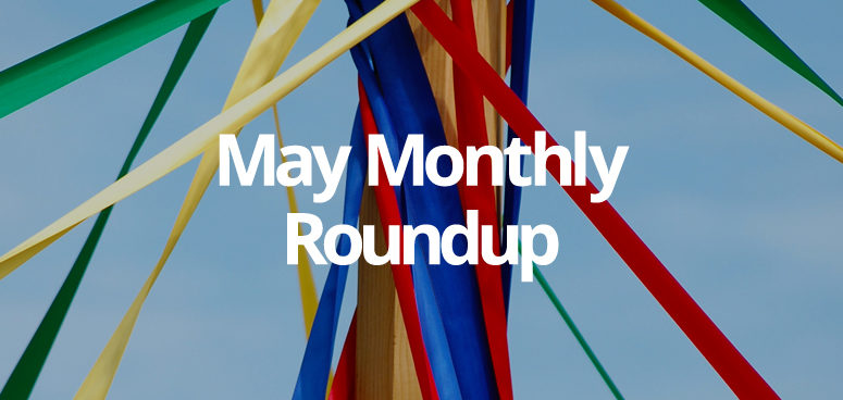 A May pole with colourful streaming fabric symbolises our roundup of GForces website launches
