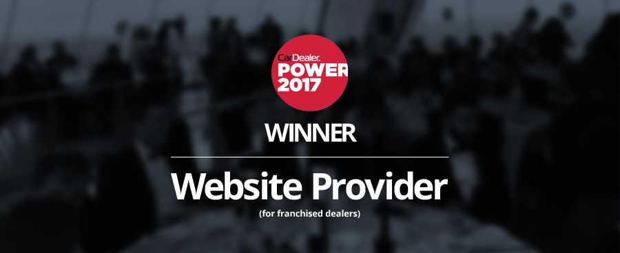 GForces awarded 'Website Provider for Franchised Dealers' 2nd year running in Car Dealer Power Awards.
