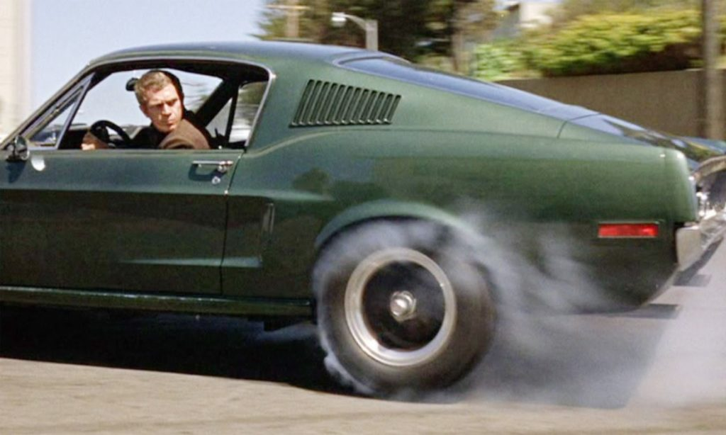 Car chases - Steve McQueen and the iconic Mustang in 'Bullitt'