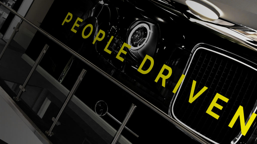 The new LEVC, passenger and driver focused branding - 'people driven'.