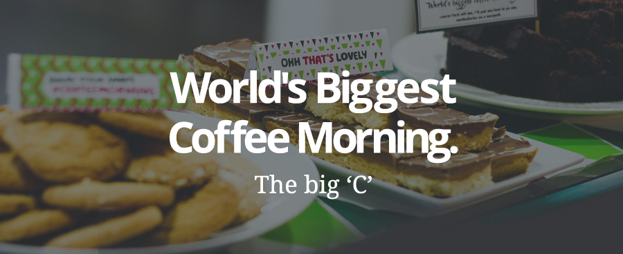 World's Biggest Coffee Morning. The Big 'C'