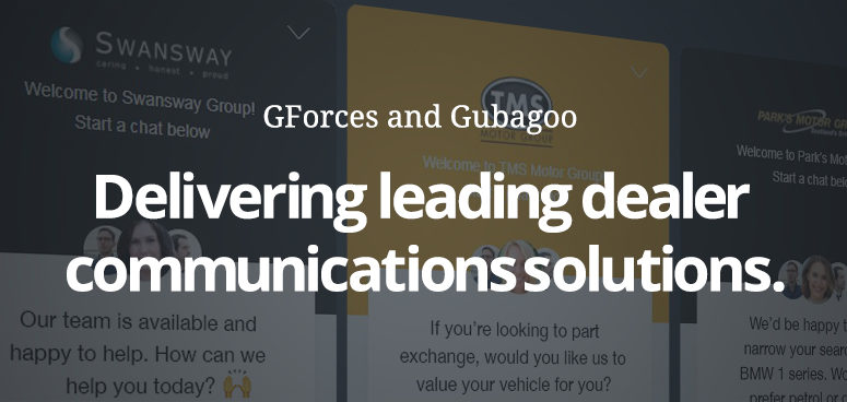 Gubagoo and GForces announce new UK partnership.