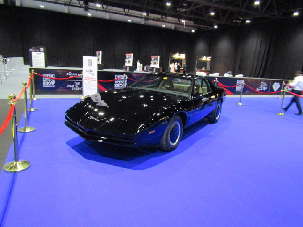 The shadowy world of a man...who doesn't exist - but was at the Dubai International Motor Show 2017. KITT. Knight Rider.