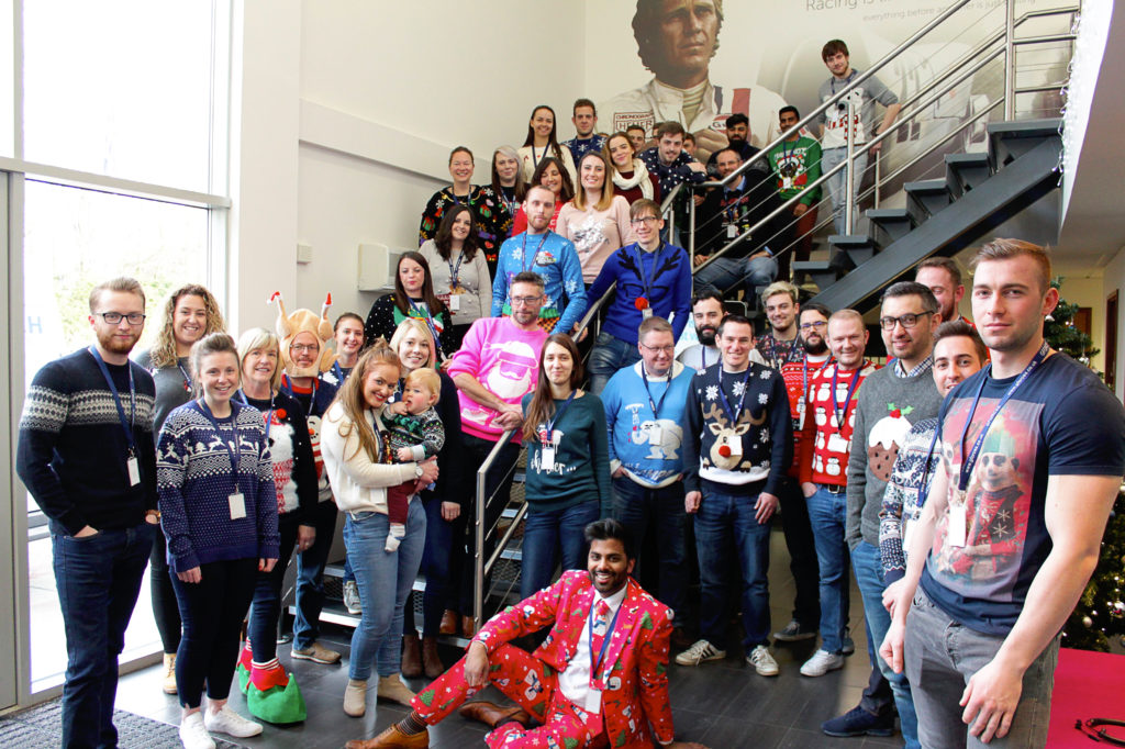 Christmas jumper day 2017 at GForces