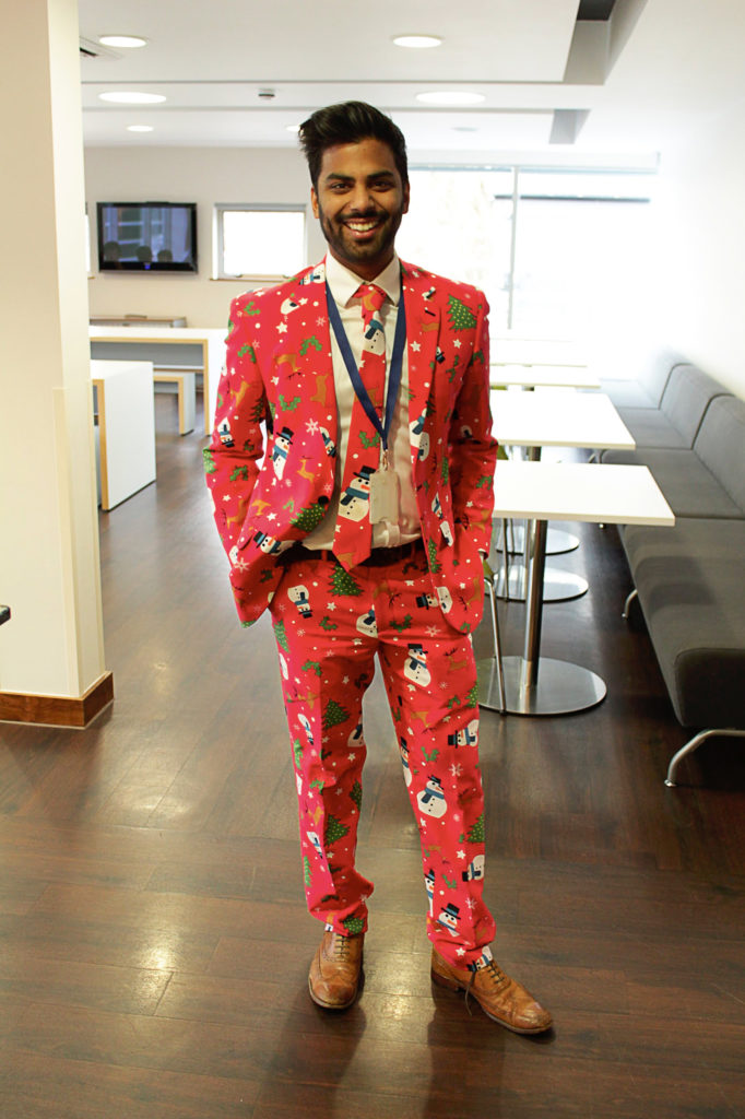 Christmas jumper? Make it a Christmas suit!
