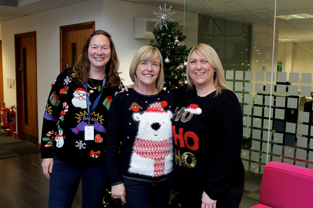 Christmas jumper and Christmas cheer from GForces.
