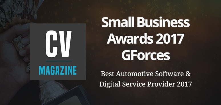 Corporate Vision Magazine award GForces 'Best Automotive Software Provider'.