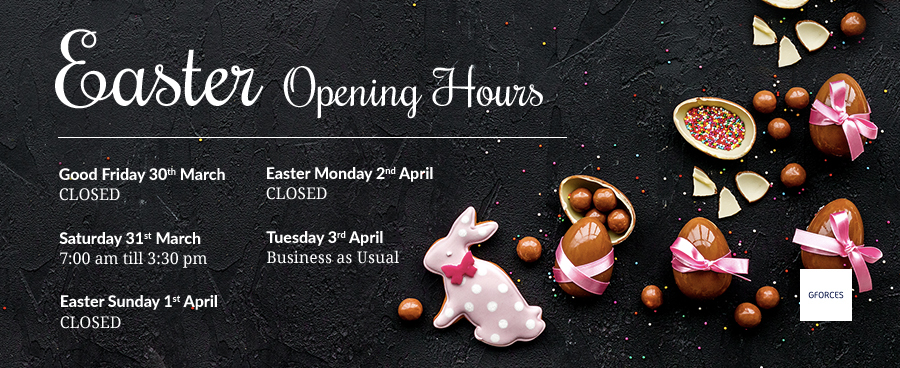 Our Easter Opening Hours - when we'll be chocs away.