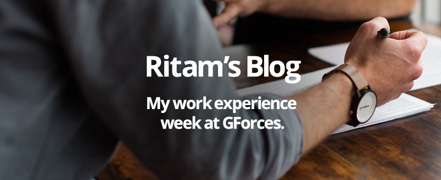 Work Experience at GForces, by Ritam Ghosh
