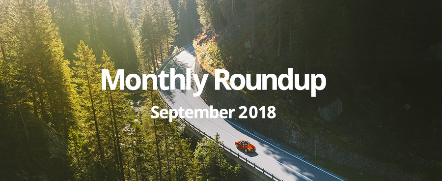 September Monthly Roundup of software and site launches from GForces.